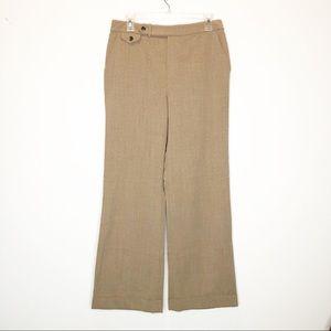 LAUREN RALPH LAUREN Wool Wide Cuff Dress Pants